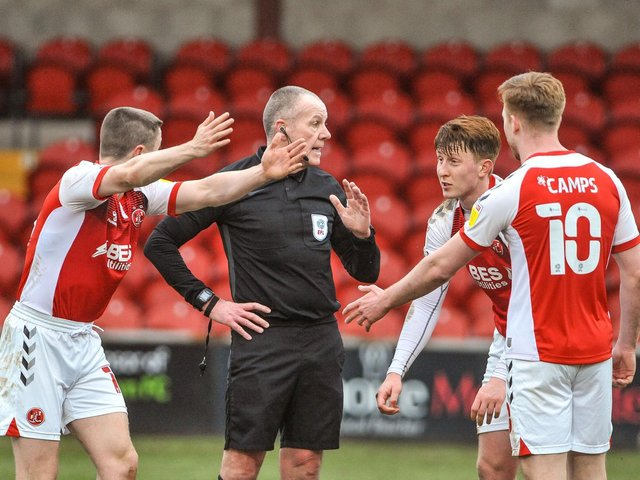 Fleetwood Town's players suffered defeat on Saturday Picture: Stephen Buckley/PRiME Media Images Limited