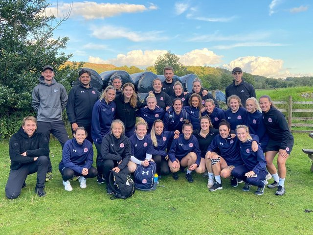 The Fylde Women squad and staff saw their league season ended early