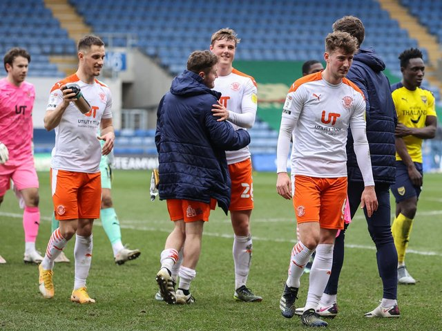 Blackpool's players won at Oxford United on Saturday