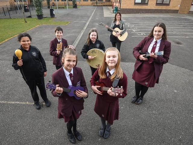 Members of Montgomery's ukulele club. Photo: Daniel Martino, JPI Media