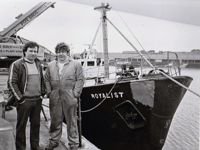 Brian Cato (right) with Billy Ansell in 1986 after they brought the Royalist back into service.