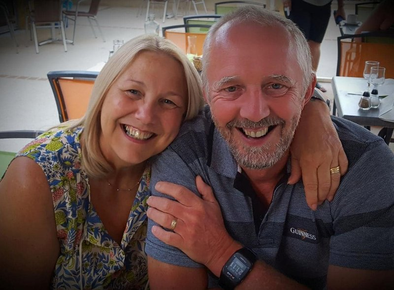 """""""I've missed my husband Dave, he's working overseas. He did 24 years in RAF and now works in civil aviation."""""""