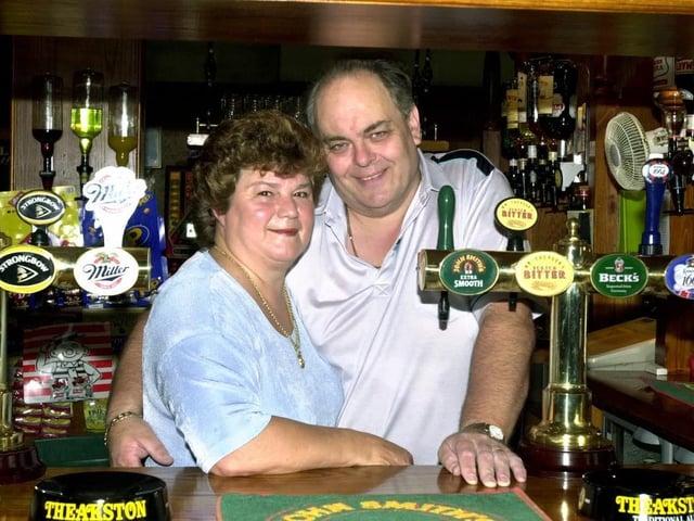 Don and Beryl Ridgeway landlord and landlady of the Lane Ends Pub, Hawes Side Lane, Blackpool.