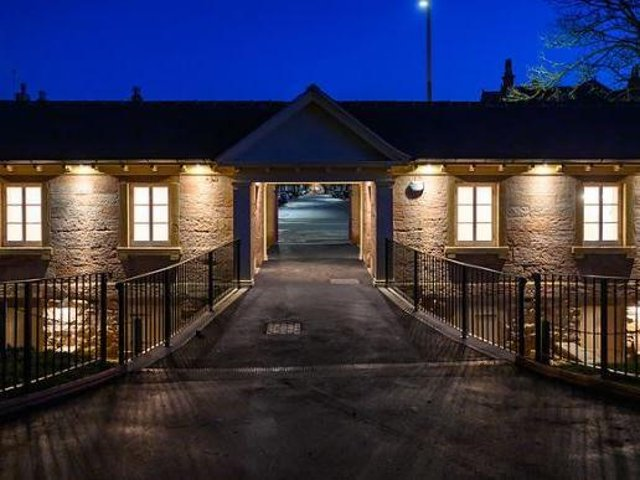 The newly revamped Mount lodge and entrance to the gardens at Fleetwood