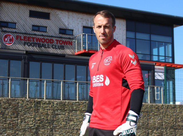 Fleetwood goalkeeper Alex Cairns has signed a new two-year-deal. Credit: FTFC.