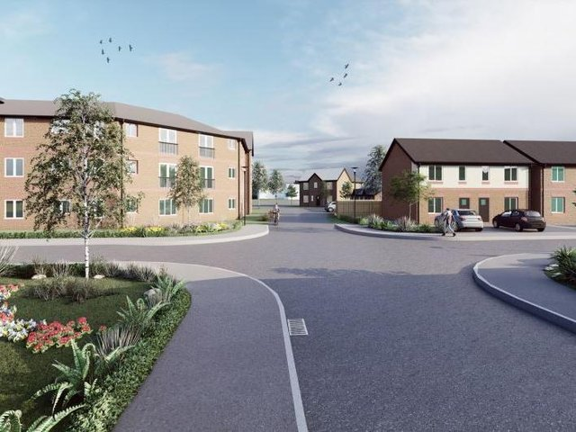 Artist's impression of some of the homes earmarked for the site in Thornton