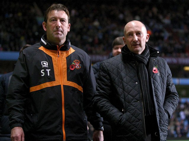 Ian Holloway and Steve Thompson were preparing to implement a club-wide playing style