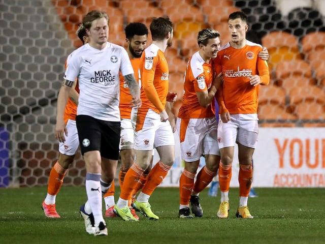 Blackpool were victorious against Peterborough United in midweek