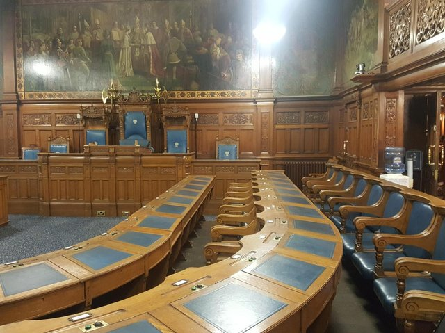 Meetings have not been held in the council chamber during the pandemic