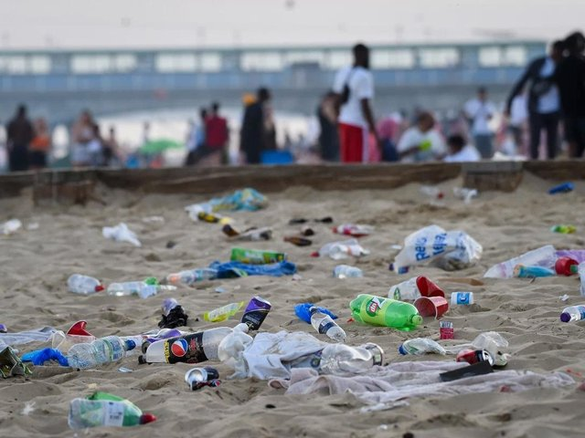"""The lifting of national restrictions last summer led to a """"staggering increase"""" in rubbish swamping Britain's beaches and waterways"""