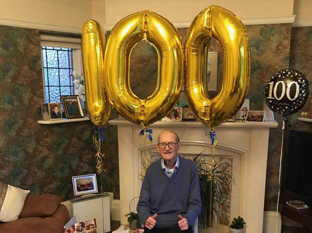 Ron Pickup celebrates his 100th birthday