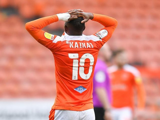Sullay Kaikai can't hide his frustration at the full-time whistle