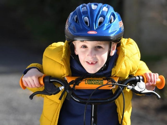 Nathaniel Currey on his charity bike ride