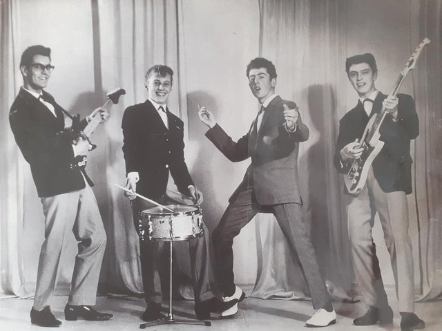 The Trespassers, Alan Wright is pictured at the left