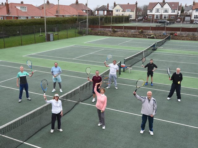 Member at St Annes Tennis Club were back on the courts again