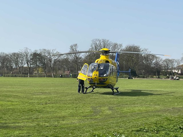 """An air ambulance was called after a man """"fell ill"""" in Siding Road."""