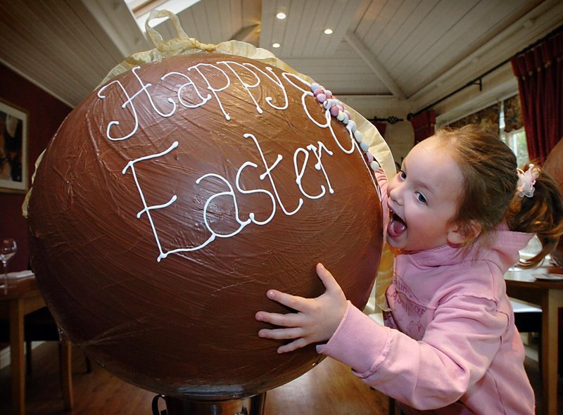 Master Baker Danielle Trachillis, who owned Ma Baker's at Ribby Hall Holiday Village, and Ribby's chef Nigel Smith created two giant Easter eggs in 2006. Eloise Smith couldn't resist a taste.
