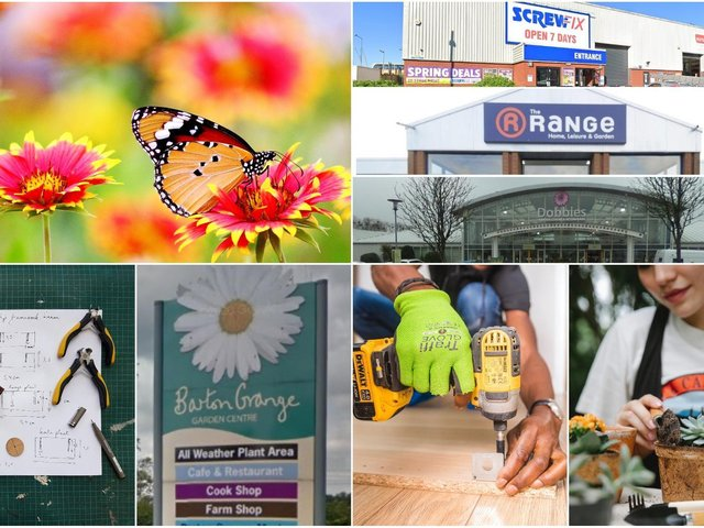Whatever your project plans these garden centres and DIY stores can help.