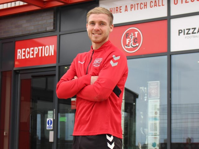 Dan Batty has signed a new Fleetwood Town contract. Credit: FTFC