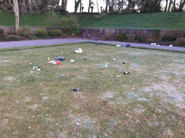 Litter was found scattered around Stanley Park in Blackpool this morning (Friday, April 2). Pic: Brendan Bunting