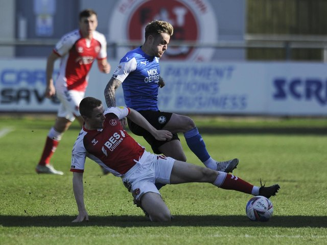 Jordan Rossiter recently signed a new contract with Fleetwood Town Picture: Greig Bertram/PRiME Media Images Limited