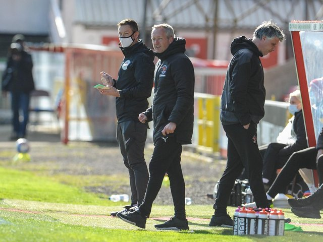 Neil Critchley saw his Blackpool team win at Swindon Town on Good Friday