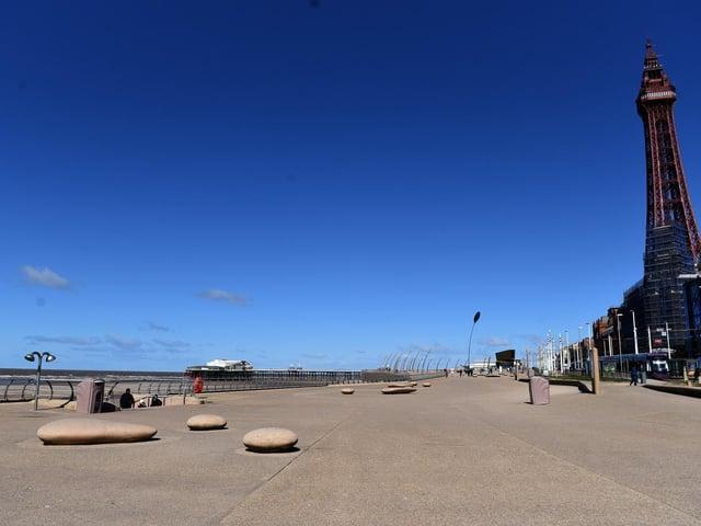 Blackpool promenade on Easter Monday