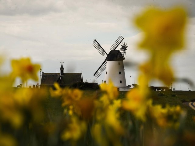Youths were gathered by Lytham windmill before running off when police arrived