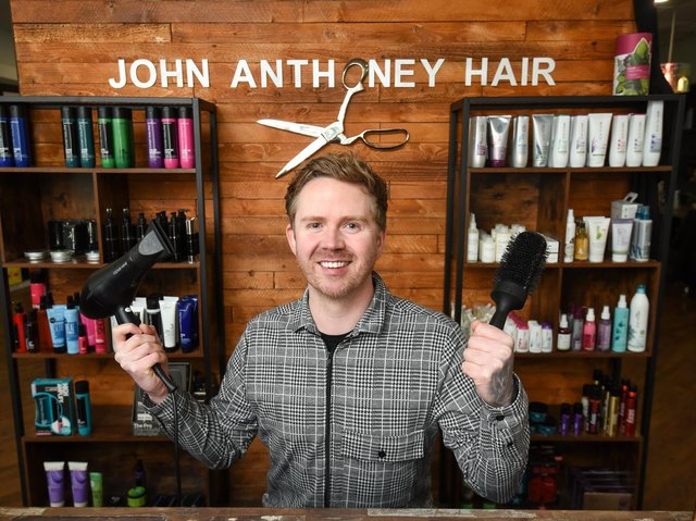 John Anthoney, owner of John Anthoney Hair in Blackpool
