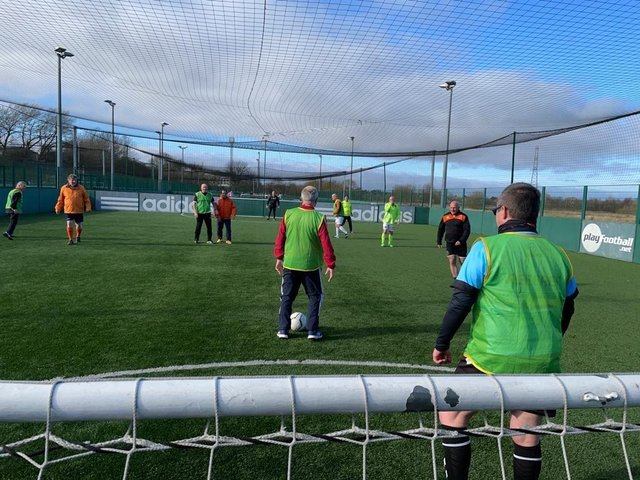 Walking Football is underway again
