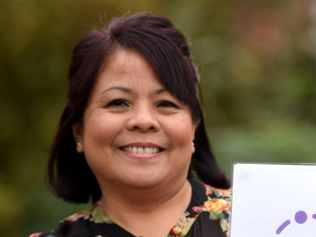 Delma Dela Cruz, the manager at Amber Court care home in Blackpool