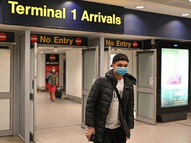 Manchester Airport arrivals