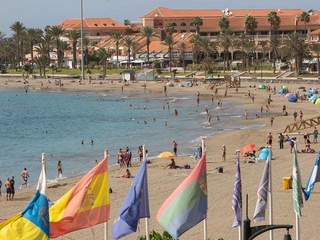 Tenerife in October shortly before restrictions on travel were imposed