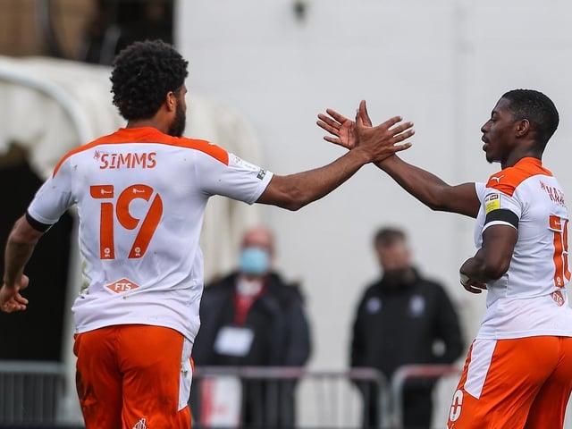 Ellis Simms and Sullay Kaikai were both on the scoresheet for Blackpool
