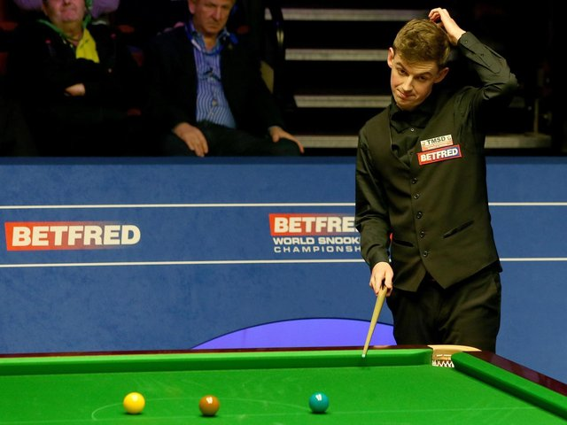 James Cahill has missed out on a Crucible return