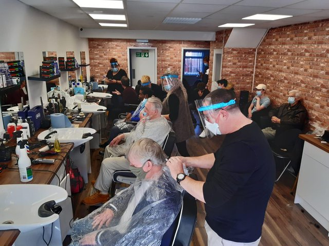 Dave Gotto's barber shop in Fleetwood