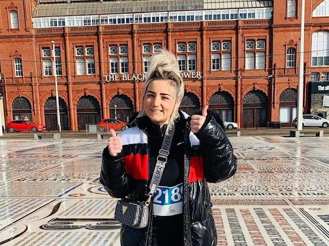 Nadia Ardern, of Blackpool,  walked 60 miles to raise funds for Trinity Hospice in tribute to her Godfather
