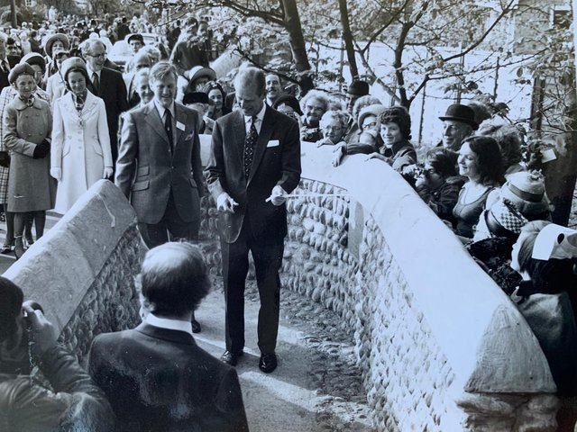 Prince Philip opening Witchwood, between Ansdell and Lytham, in 1974
