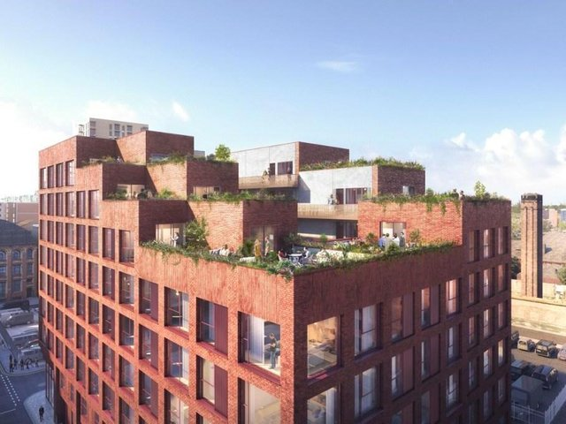 The New Cross Manchester building, with its roof terraces, that Ameon is working on