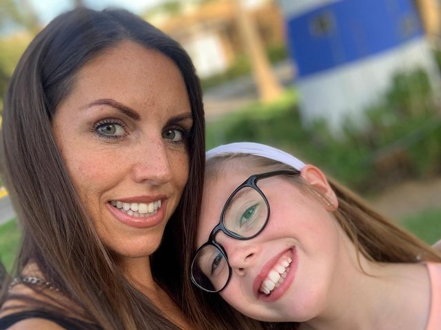 Elizabeth and daughter Ruby, 10