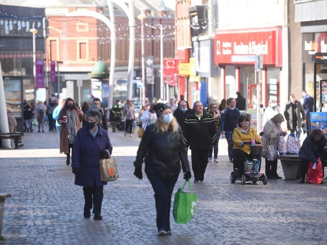 These were the scenes in Blackpool town centre as restrictions eased on April 12.