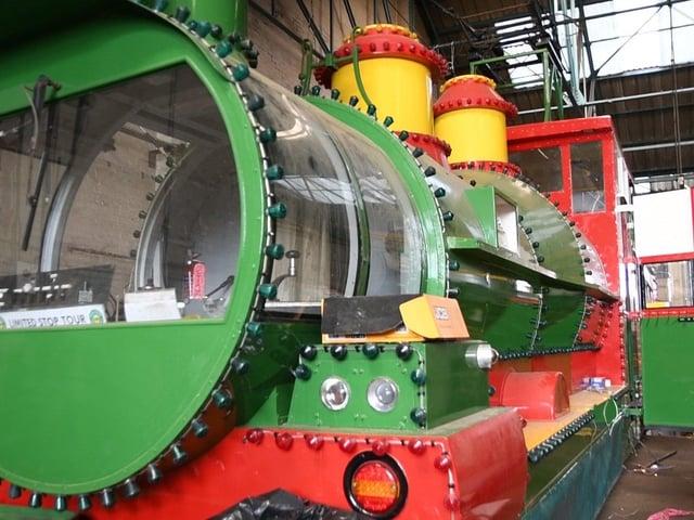Blackpool's Western Train heritage tram