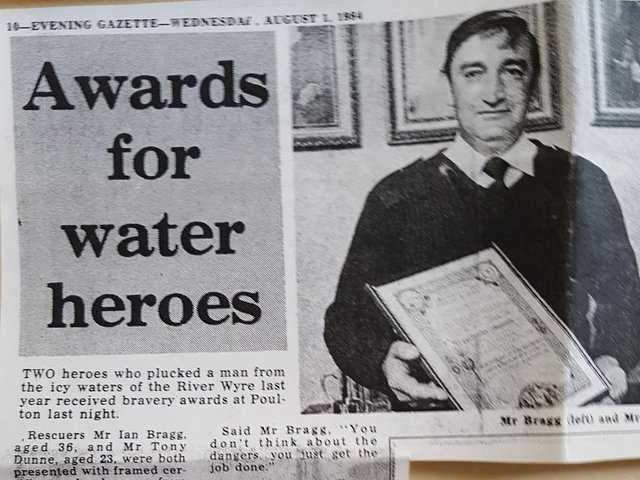 Ian with his award in the 1980s