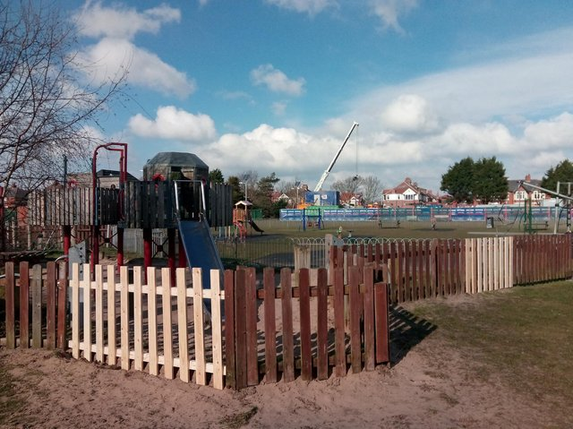 A play area at Highfield Park