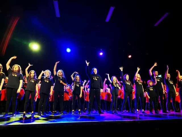 A shot from the last show Kidz4kidz were able to put on