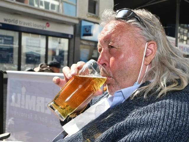A pint...at last