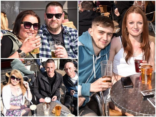 CHEERS! Blackpool locals enjoying beer gardens in the weekend sun - in pictures