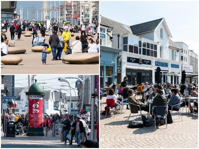 Crowds flocked back to the resort over the first weekend following the easing of lockdown restrictions across the country last week.