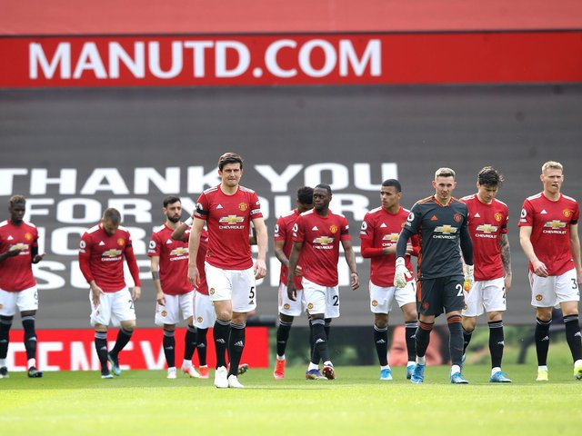 Manchester United took the field to face Burnley yesterday hours before the announcement of the European Super League proposal