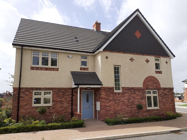 One of the homes at a development in Wrea Green which has been acquired by Elan Homes, after the previous developer went into administration in 2019